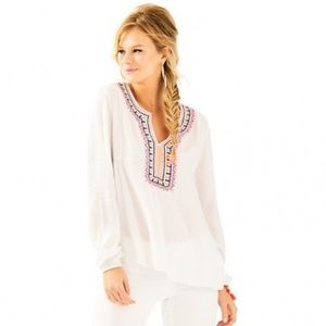 LILLY PULITZER Dahle Embroidered Tunic {EE29}